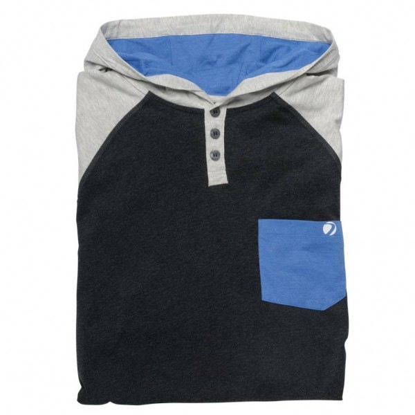 COBA HOOD SHIRT Heather/Gray/Blue